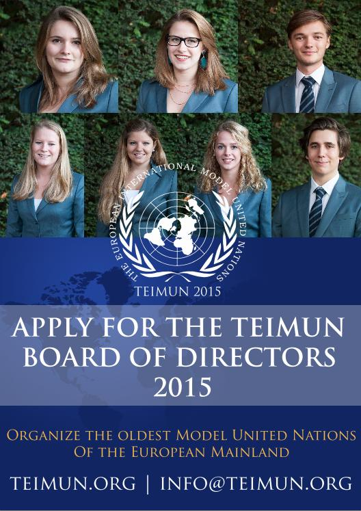 TEIMUN is looking for a new Board of Directors!