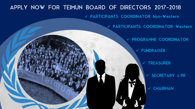 THE TEIMUN FOUNDATION IS LOOKING FOR A NEW BOARD OF DIRECTORS FOR 2017/2018!